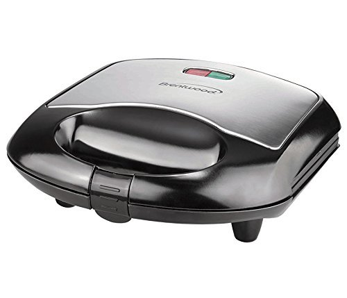 Brentwood Sandwich Maker - Black - Black, Brushed Stainless
