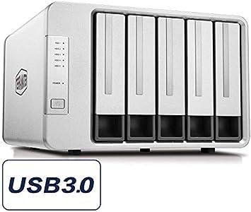 TERRAMASTER D5-300C USB 3.0 (5 Gbps) Tipo C Carcasa Raid de 5 ...