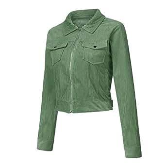 Amazon.com: KaiCran Womens Zipper Short Coat Long Sleeve