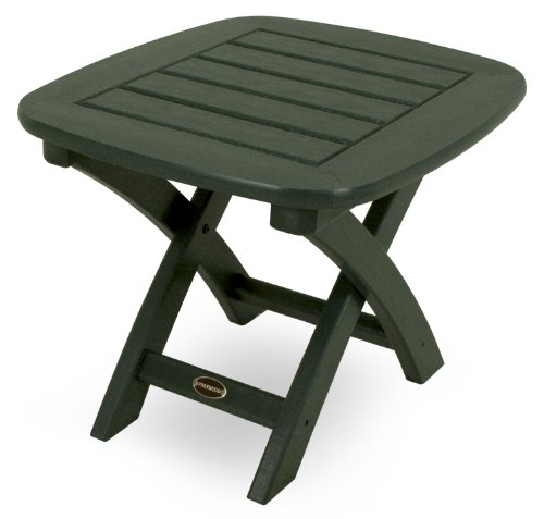 POLYWOOD Nautical 21-Inch by 18-Inch Side Table, Green ()