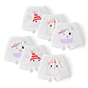 Himipopo Baby Girl's Diaper Underpants Toddler Cotton Panties Toilet Potty Training Pants 6 Pack