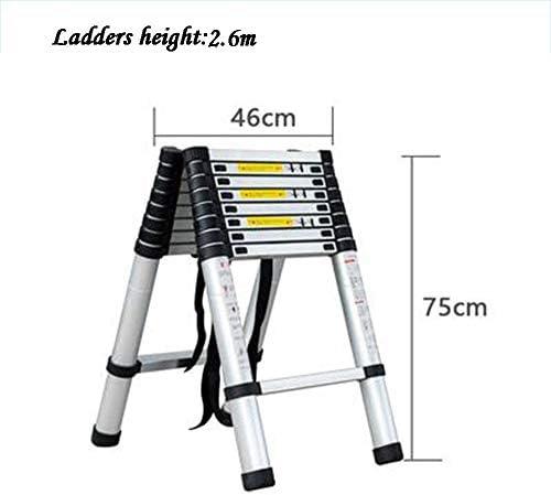 GYL Escaleras telescópicas Plegables Escaleras de Mano Y Cubierta Taburete de Paso Multifuncional Antideslizante Aleación de Aluminio de Ingeniería Construcción de Escalera 6 Tamaños (Size : Style4): Amazon.es: Hogar