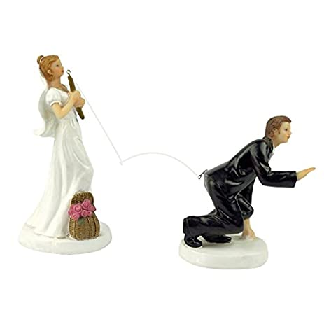 Yepmax Love Wedding Cake Toppers Funny Vintage Figurines Couple 3 X 6 Inch