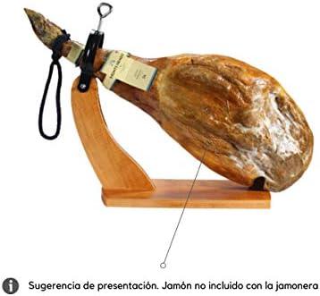Monte Nevado Soporte Jamonero Góndola Madera Cuchillo Jamonero + Afilador Cuchillo | Hecho en España | Válido para Paletas y Jamones | Fácil y Cómodo de Montar, Limpiar y Desmontar