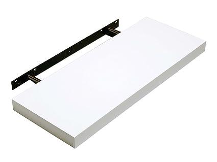 amazon com hudson modern stylish floating shelf white gloss 600 x rh amazon com floating shelves white high gloss floating tv shelf white gloss