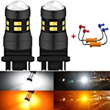 KaTur 3157 3047 3057 3155 3156 Switchback LED Bulbs White/Yellow High Power Super