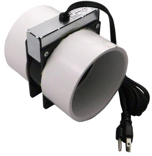 Tjernlund PVC4 Radon Mitigation Fan Model – Exhaust Fan with 6-Ft. Power Cord, Minimal Power Consumption, 4 In. PVC Pipe. Ventilation Fans