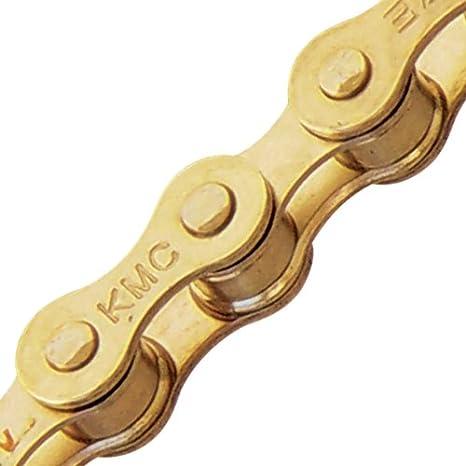 "KMC Z510 1//2 x 1//8/"" BMX Wide Single Speed Chain 112L Gold Ti-Ni Finish"