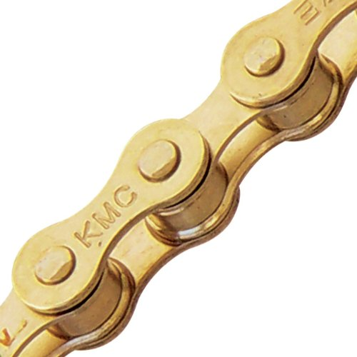 KMCA0 Z410 112 Gold Bicycle Chain (1-Speed, 1/2 x 1/8-Inch, 112L, Ti-N Gold)