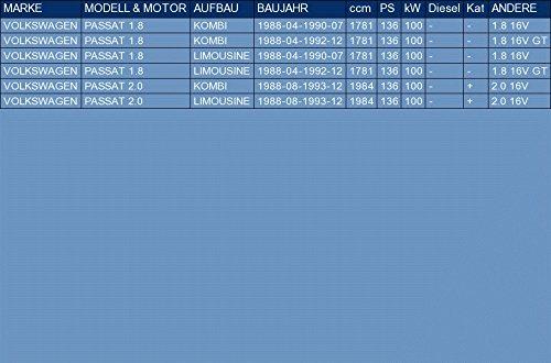 kit di montaggio pour PASSAT 1.8 2.0 FAMILIARE BERLINA 136hp 1988-1993 ETS-EXHAUST 51906 Silenziatore marmitta Centrale