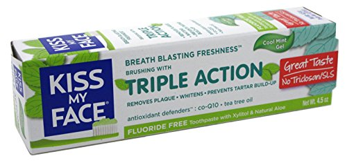 Kiss My Face Toothpaste Triple Action Cool Mint Gel 4.5 Ounce (133ml) (3 Pack)