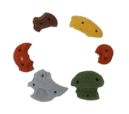 6 Pack Limestone Screw-Ons | Climbing Holds | Mixed Earth Tones by Atomik Climbing Holds