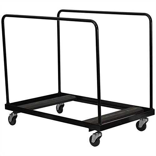 (Flash Furniture Black Folding Table Dolly for Round Folding)