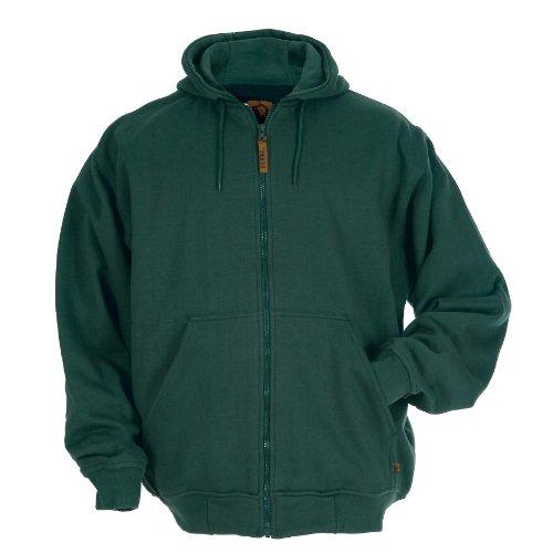 Berne Men's Original Hooded Sweatshirt Thermal Lined, Green, Small/Regular
