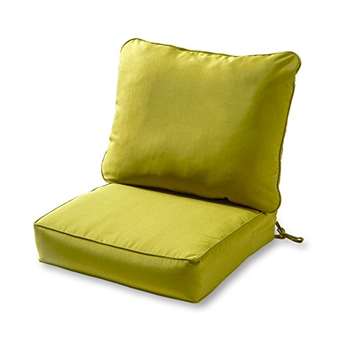 Greendale Home Fashions Deep Seat Cushion Set, Kiwi (Deep Seat Chair Cushions)