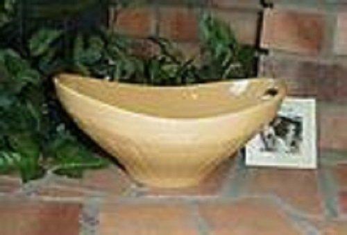 Longaberger Butternut Large Serving Bowl Contour Pottery Swoop