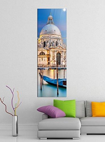 740ef5a261 Quadro su tela 3tlg Venezia Santa Maria della Salute Boot acqua castello  immagini Stampa su tela