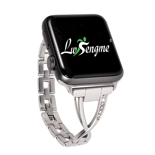 Luxury Stainless Steel Quick Release Bracelet Strap with Adjustable Buckle for Apple iWatch/Apple Watch Series 2/ Apple Watch Series 1/Nike+ by Lwsengme(42mm-Stainless Steel-Silver-05)