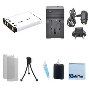 NP-45 Li-Ion Replacement Battery Replacement + Car/Home Charger for Fujifilm FinePix JX700, JX710, JZ100, JZ110, JZ250, JZ260, JZ300, JZ305, JZ500, JZ505 & More.. Camera + Complete Starter Kit