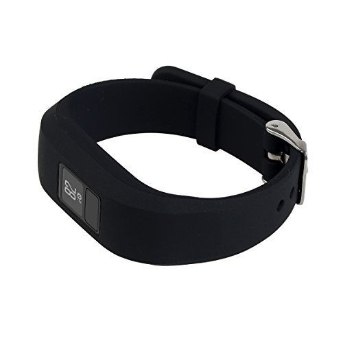 I SMILE Replacement Wristband With Secure Clasps for Garmin Vivofit 3 Only(No tracker, Replacement Bands Only)