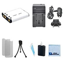 NP-45 High-Capacity Battery Replacement + Car/Home Charger for Fujifilm FinePix XP80, J12, J100, J110w, J120, J150w, J15fd, J20, J210, J25, J250, XP70, JX660 & More.. Camera + Complete Starter Kit