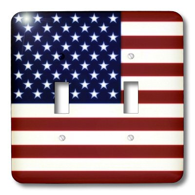- 3dRose lsp_37607_2 Unites States American Flag Double Toggle Switch