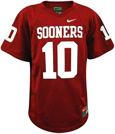Nike Oklahoma Sooners NCAA Youth Replica Football Jersey Crimson #10 (5)