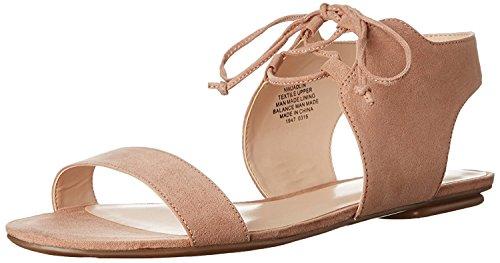 Nine West Womens Jadlin Leather Flat Sandal, Natural, 38.5 B(M) EU/6.5 B(M) UK