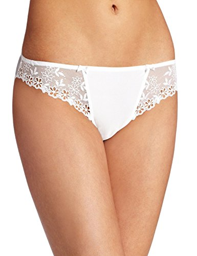 Felina Women's Rebecca Bikini Panty Underwear, White, Small