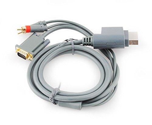 Xbox 360 VGA Kabel HDTV AV-Kabel Audio Konsole Beamer TV PC Monitor Cinch #444
