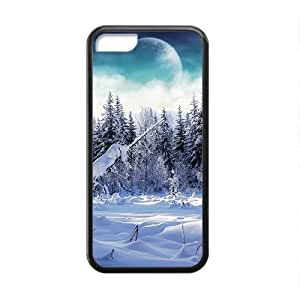Fashion Creative Wolf Black Phone Case for iPhone 5 5s