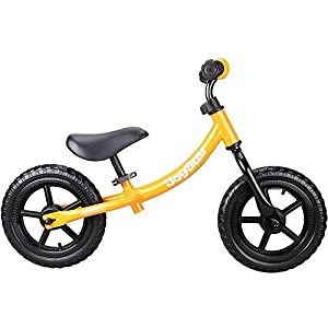 JOYSTAR 12 Inch Kids Balance Bike with Low Frame for Boys or Girls 1.5 5 Years Old, Push Bike with Air Free Tire for Children, Adjustable Seat & Handlebar (Blue, Pink, Orange, Red)