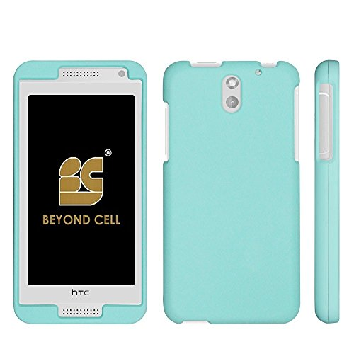 ,International,Prepaid)Beyond Cell Premium Protection Slim Light Weight 2 piece Snap On Non-Slip Matte Hard Shell Rubber Coated Rubberized Phone Case Cover With Design - Mint - Retail Packaging ()