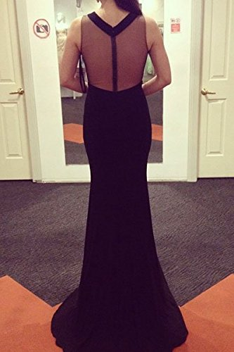 Élégant Mesdames longue robe de soirée noir Insert en maille Cocktail Party Dance Club Wear Taille M 10–12EU 38–40