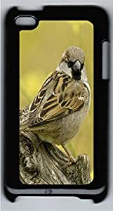 iPod 4 Case Little Brown Bird Animal PC Custom iPod 4 Case Cover Black