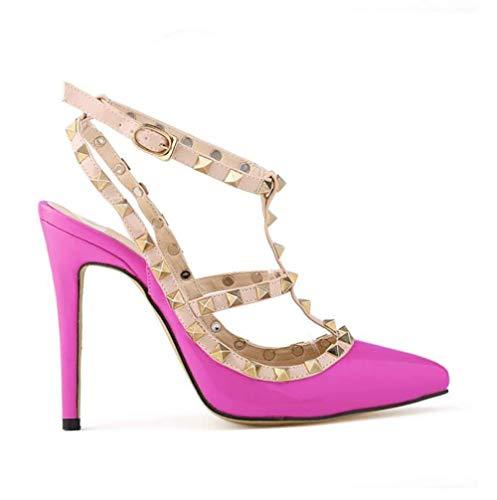 coloré Talons Femme Mode Estivales La À Violet Taille Rose 38 39 Pour Talons Platform Rouges Sandals Hauts Pantoufles Boucles Sandales wgxA1xZq7W