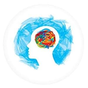 alfombrilla de ratón pensamiento cabeza humana. haciendo de las existencias de pincel - ronda - 20cm