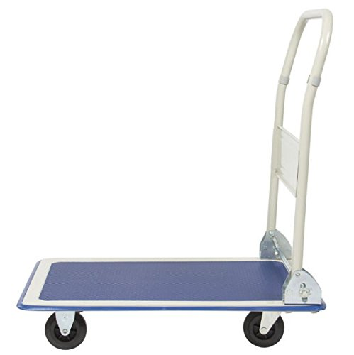 RP New 330lbs Folding Platform Cart Dolly Warehouse Moving Push Hand Truck Heavy Duty Flat Foldable Portable Transport Loads Trolley Luggage Carrier