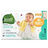 Seventh Generation Baby Diapers for Sensitive Skin, Plain Unprinted, Size 1, 160 Count (Packaging May Vary)