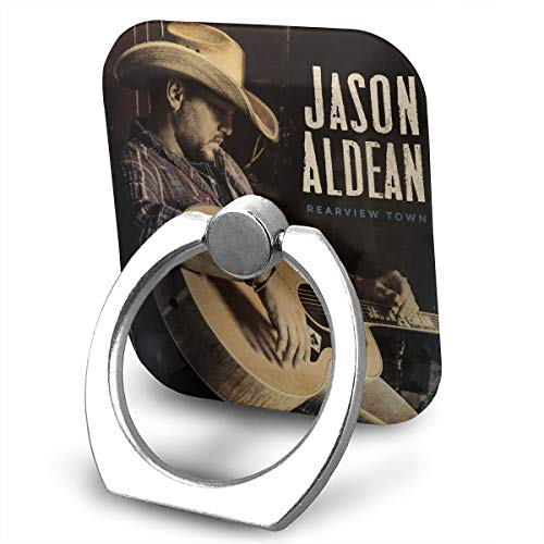EdithL Jason Aldean Rearview Town Cell Phone Finger Ring Stand, Car Mount 360 Degree Rotation Universal Phone Ring Holder Kickstand for iPhone/iPad/Samsung