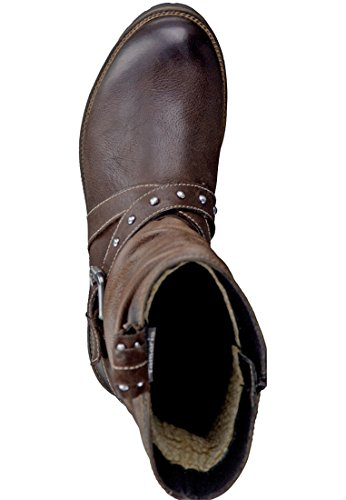 Boots la 23 Braun correa Biker 1 Tamaris cigarro Brown Cafe con 338 26477 qx1B85F