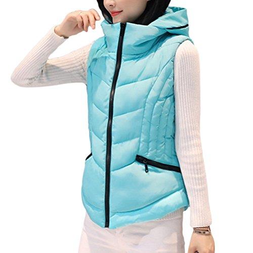 調整可能断言する妨げるZhhlinyuan Winter Short Style Down Vest Female Korean Style Clip Hood ファッション 美しい for Ladiess