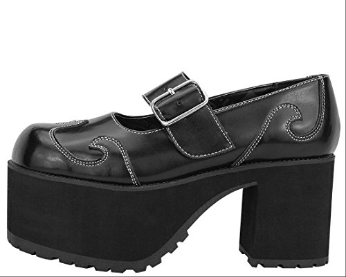 A8620L BLACK HEELS K NOSEBLEED Shoes JANE LADIES T TUK U PUNK MARY SWIRL wHgqEq
