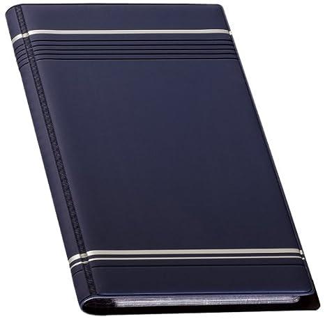Durable Visifix 96 - Archivador para tarjetas de visita 250 x 118 mm, color azul marino: Amazon.es: Oficina y papelería