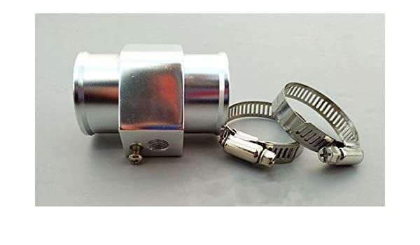 30mm SILVER Radiator hose Coolant Temperature temp sender Gauge sensor adaptor