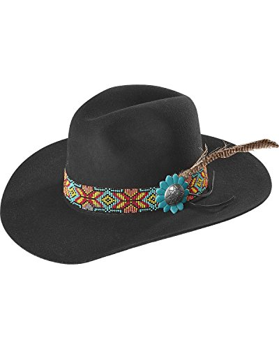 Charlie 1 Horse Women's Gold Digger 5X Hat Black 7 1/8 by Charlie 1 Horse