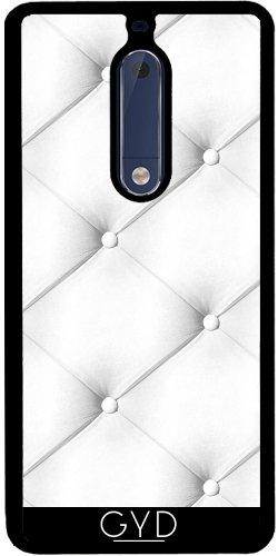 Funda de silicona para Nokia 5 - Cuero Acolchado Blanco by wamdesign