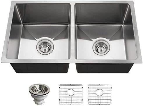 HOUZER NOD-4200 Nouvelle Kitchen Sink, Stainless Steel