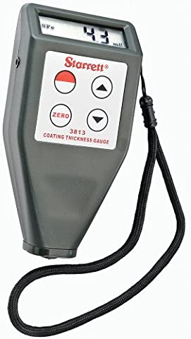 Starrett 3813 Coating Thickness Gage with steel and Aluminum Substrate Samples, 4 Calibrated Samples with - Starrett Thickness Gage