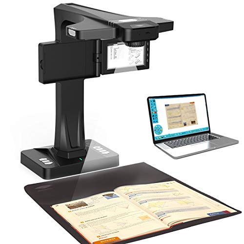 Book & Document Scanner, with 18M Pixels CMOS Image Sensor and Smart OCR, Auto Flatten, Split & Deskew Technology,Convert Images to Word/Excel/PDF, Support Offline Scan for PC by Emperor of Gadgets